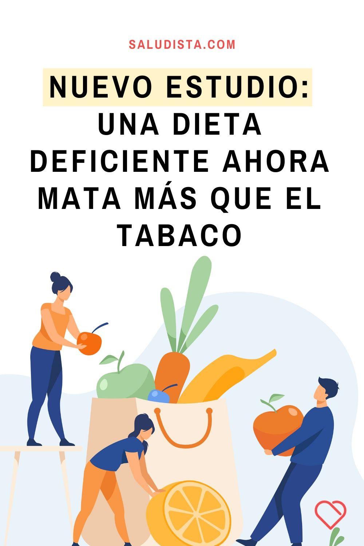 Nuevo estudio: una dieta deficiente ahora mata más que el tabaco