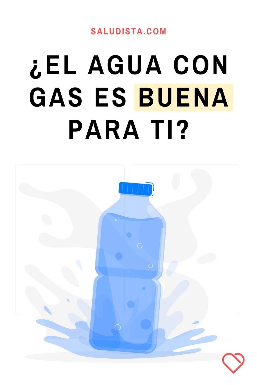 ¿El agua con gas es buena para ti?