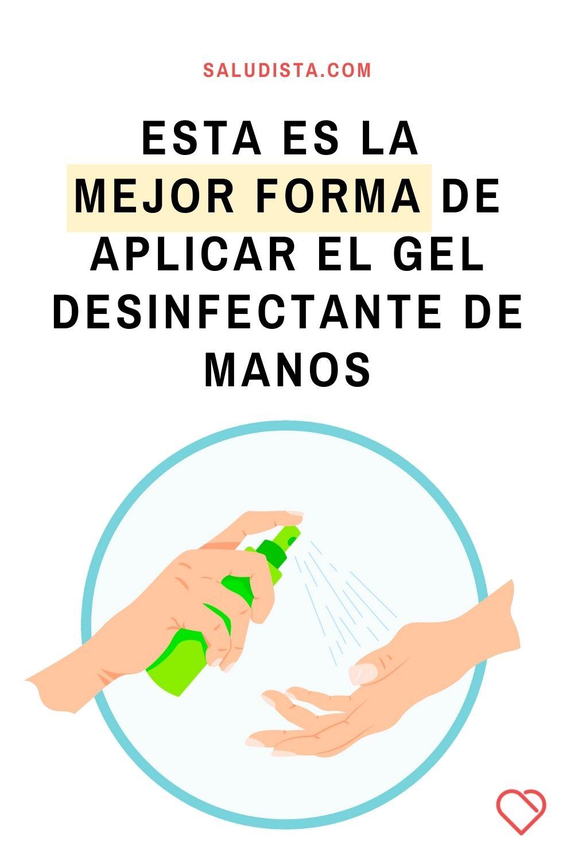 Esta es la mejor forma de aplicar el gel desinfectante de manos