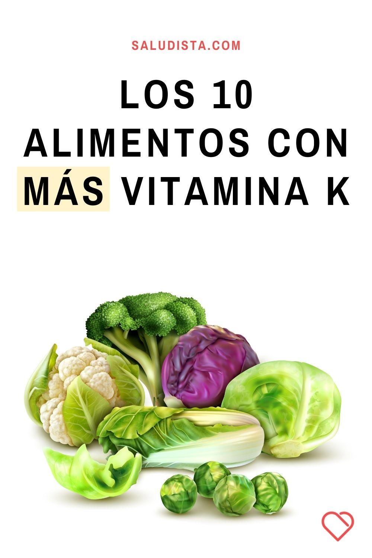 Los 10 alimentos con más vitamina K
