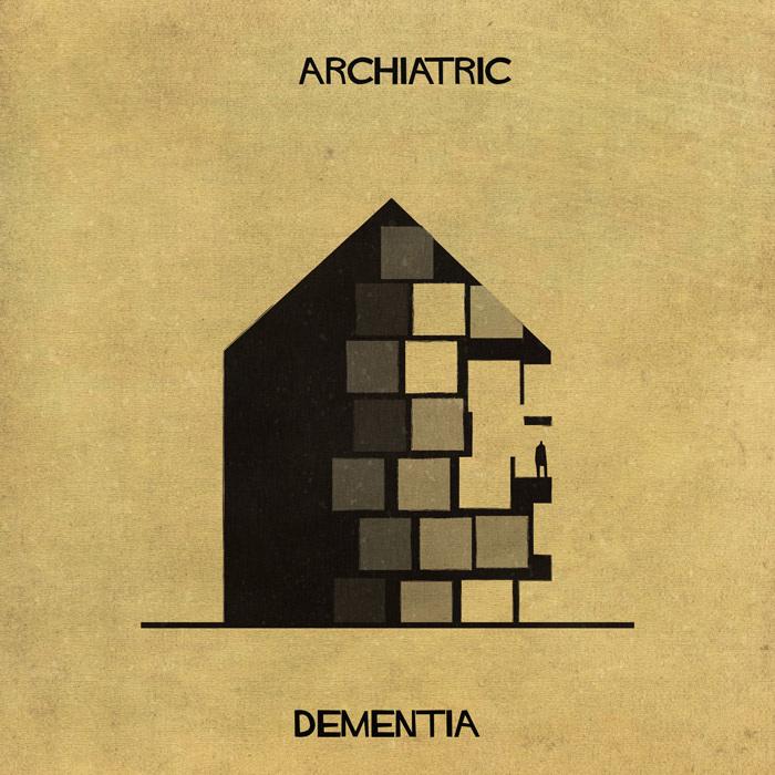 Este artista describe perfectamente diferentes enfermedades mentales a través de la arquitectura